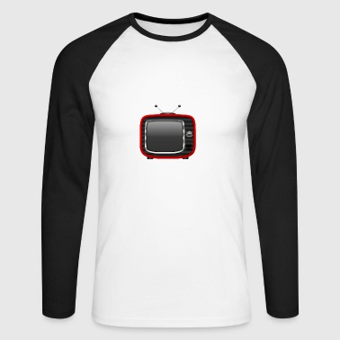 Retro Tv Red 001 AllroundDesigns - Men's Long Sleeve Baseball T-Shirt