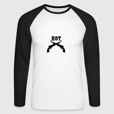 Hotx2 blak - Men's Long Sleeve Baseball T-Shirt
