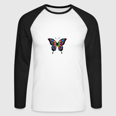 Butterfly - Abstract 4 - Männer Baseballshirt langarm