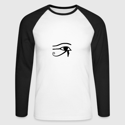 Eye of Horus - Men's Long Sleeve Baseball T-Shirt