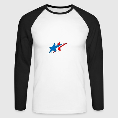 Stars - Men's Long Sleeve Baseball T-Shirt