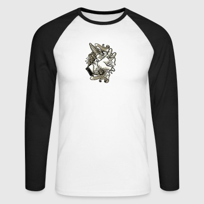 Sacrifice sacrifice knife dagger Christmas tattoo - Men's Long Sleeve Baseball T-Shirt