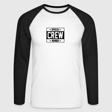 crew member - Men's Long Sleeve Baseball T-Shirt