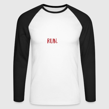 to run - Men's Long Sleeve Baseball T-Shirt