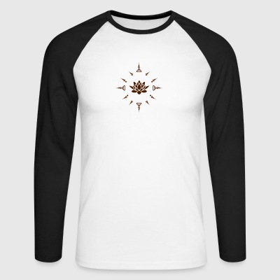 Lotus - Men's Long Sleeve Baseball T-Shirt
