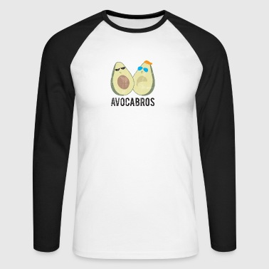 Fruits / fruits: avocat - Avocabros - BFF - T-shirt baseball manches longues Homme