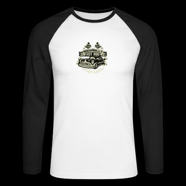 Rockabilly Hotrod - Men's Long Sleeve Baseball T-Shirt
