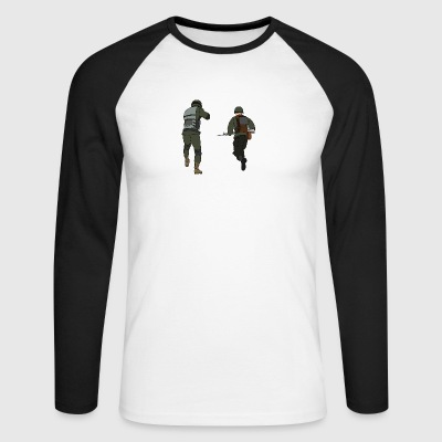 soldiers - Men's Long Sleeve Baseball T-Shirt