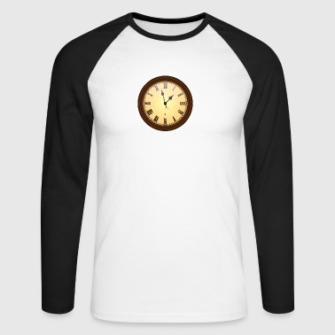 wall clock - Men's Long Sleeve Baseball T-Shirt