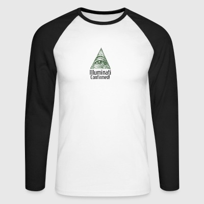 Illuminati Confirmed - Illuminati Shirt - Men's Long Sleeve Baseball T-Shirt