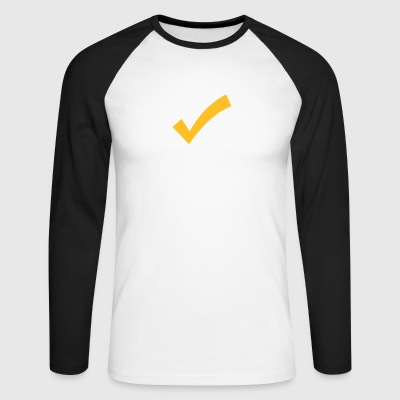 A Checkmark - Men's Long Sleeve Baseball T-Shirt