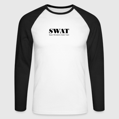 Swat Super workaholic Action Team - Men's Long Sleeve Baseball T-Shirt