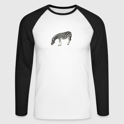zebra - Men's Long Sleeve Baseball T-Shirt