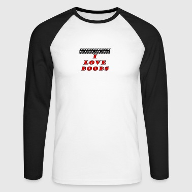BOOBS - Men's Long Sleeve Baseball T-Shirt