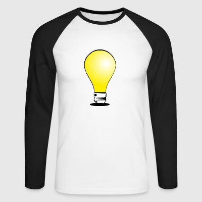 lightbulb light bulb gluehbne lamp bulb31 - Men's Long Sleeve Baseball T-Shirt