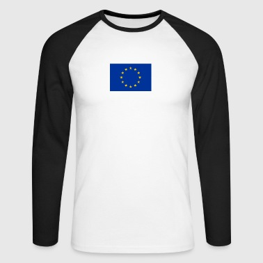 European Union Flag - Men's Long Sleeve Baseball T-Shirt