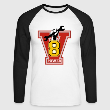 v8 power - T-shirt baseball manches longues Homme