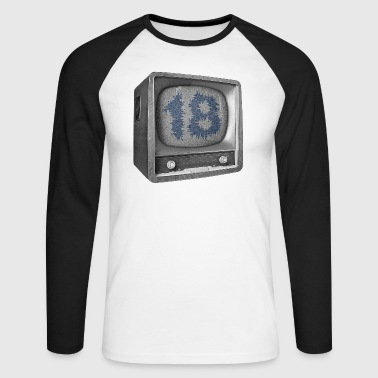 Date of birth 18 years - Men's Long Sleeve Baseball T-Shirt