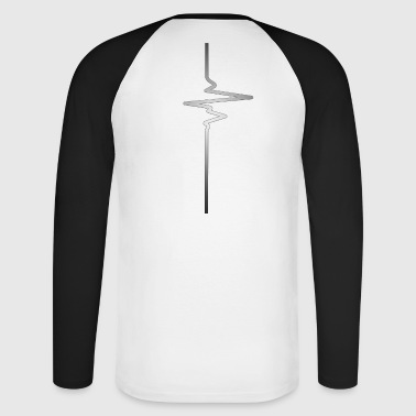 Silver Heartbeat - Men's Long Sleeve Baseball T-Shirt