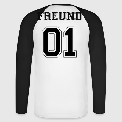 Friend - Black Edition - Men's Long Sleeve Baseball T-Shirt
