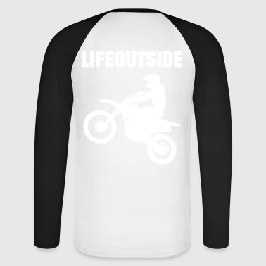 Motocross - Men's Long Sleeve Baseball T-Shirt