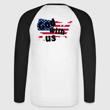 God with us - Men's Long Sleeve Baseball T-Shirt