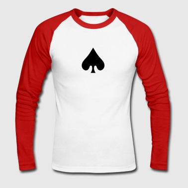 poker card / spades - T-shirt baseball manches longues Homme