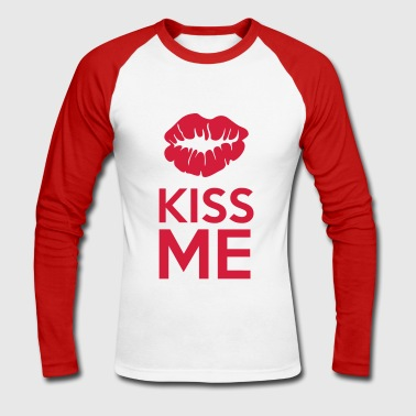 Kiss Me - T-shirt baseball manches longues Homme