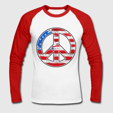 us peace - T-shirt baseball manches longues Homme