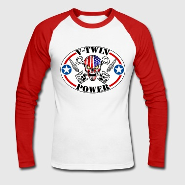 V-Twin Power motorcycles - T-shirt baseball manches longues Homme