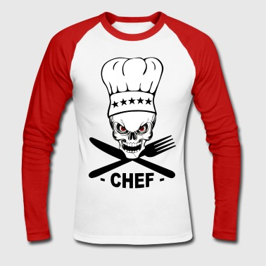 chef cuisinier - T-shirt baseball manches longues Homme