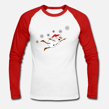 Bonhomme Bonhomme de neige, bonhomme de neige, drôle - T-shirt baseball manches longues Homme