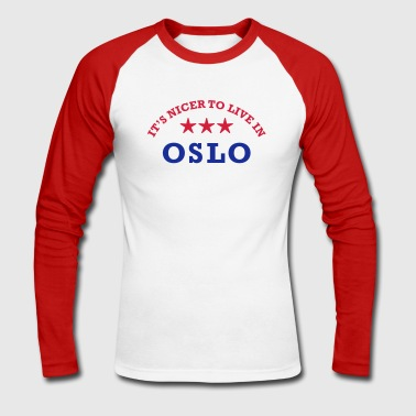 oslo - Men's Long Sleeve Baseball T-Shirt