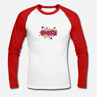 Comic Comic Comic Comic Strips Amour Amour Embrasser - T-shirt baseball manches longues Homme
