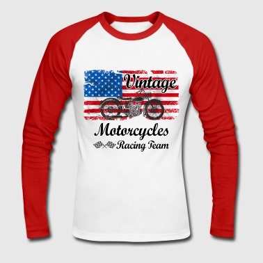 us motorcycles - T-shirt baseball manches longues Homme