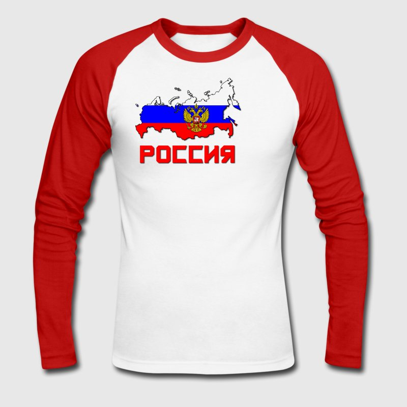 Russia Poccnr Crest - T-shirt baseball manches longues Homme