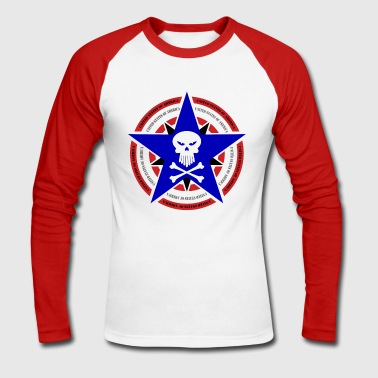 united states - T-shirt baseball manches longues Homme
