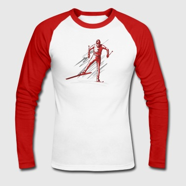 cross - country ski - Men's Long Sleeve Baseball T-Shirt