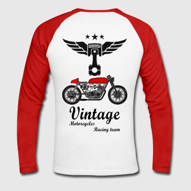 motorcycles vintage team 02 - T-shirt baseball manches longues Homme
