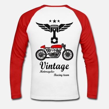 Vintage motorcycles vintage team 02 - T-shirt baseball manches longues Homme