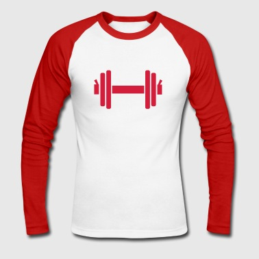 Dumbbell - Men's Long Sleeve Baseball T-Shirt