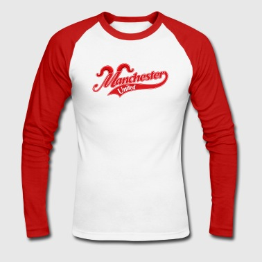 MAN UNITED - Men's Long Sleeve Baseball T-Shirt
