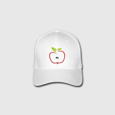 half apple - Flexfit Baseball Cap