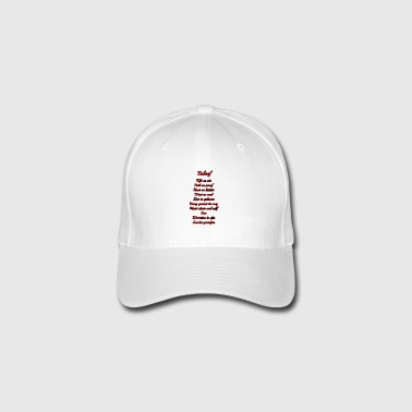 The words are - light background - Flexfit Baseball Cap