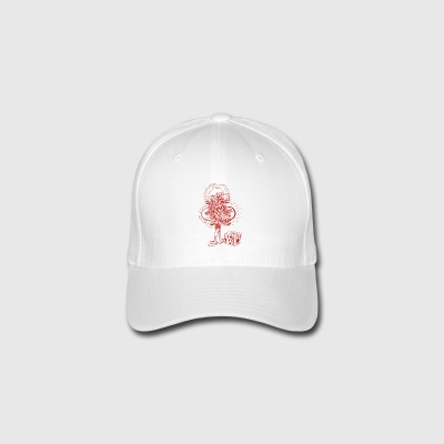 Mekanisk-Heart-in-Red - Flexfit baseballcap