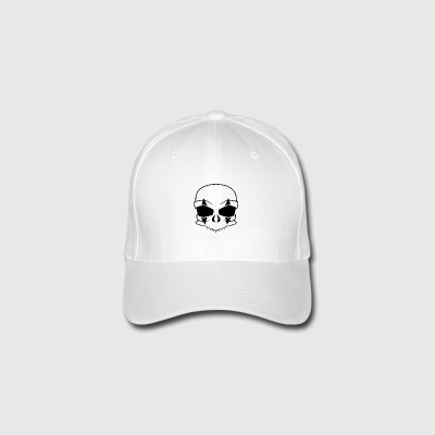 clown skull Black - Flexfit Baseball Cap
