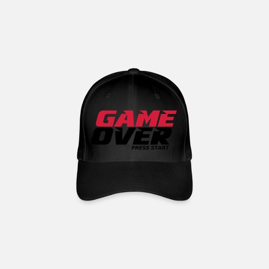 Game Over Caps & Hats - gaming - Flexfit Baseball Cap black