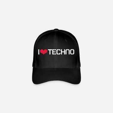 Techno I Love Techno - Flexfit Baseball Cap