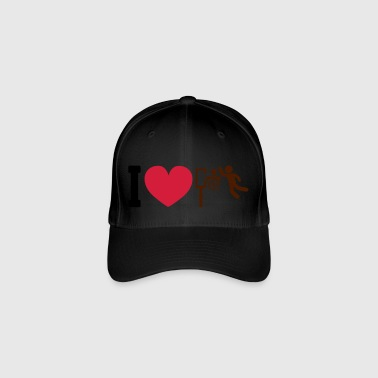 I love basketball - Flexfit Baseball Cap