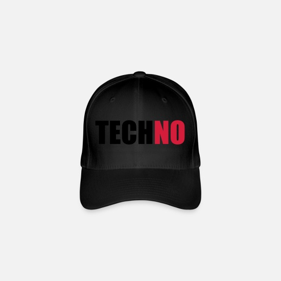 No Caps & Hats - techNO (OneWordPoetry) - Flexfit Baseball Cap black